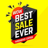 Best Sale Ever Weekend Offer banner Stock Photo