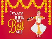 Best Sale Poster, Banner for Onam. Royalty Free Stock Images