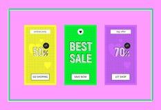 Best Sale Web Banners Set Stock Images