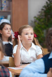 Best schoolchild in classroom Stock Photo