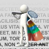 Best of search engine with multicolor cape. White character representing the best of search engine with multicolor cape Royalty Free Stock Image