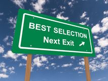 Best selection next exit sign Royalty Free Stock Images