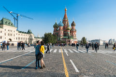 The best selfie in the world is on Red Square Royalty Free Stock Photos