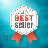 Best seller on background with new in different language Stock Photography