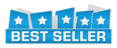 Best Seller Blue Squares On Top Royalty Free Stock Images