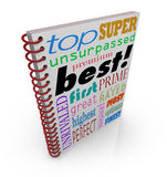 Best Seller Book Cover Great Advice Manual Instructions. Best word on cover and terms of praise and acclaim for a book, how-to guide or manual Royalty Free Stock Image