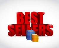 Best seller books illustration design Stock Photo