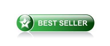Best seller button. Best seller web button - editable vector illustration on isolated white background stock illustration