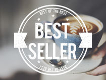 Best Seller Certificate Stamp Concept stock photography