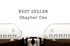 Best Seller Chapter One Typewriter Royalty Free Stock Image