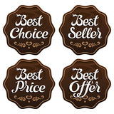 Best Seller Choice Price Offer Labels Stock Images