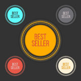 Best seller choice sign set in simple and clean. Design. Web shop award labels. Internet library elements. Vector illustration Royalty Free Stock Photos