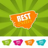 Best seller color banner and 10%, 20%, 30% & 40% Off Marks. Vector illustration. Best seller color banner and 10%, 20%, 30% & 40% Off Marks. Eps10 Vector vector illustration