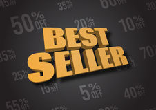Best Seller 3D illustration. A 3D illustration of words Best Seller Royalty Free Stock Photo