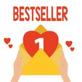 Best-seller des textes d'écriture de Word Le concept d'affaires pour le produit de livre s'est vendu en littérature réussie de gr illustration stock
