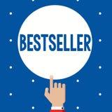 Best-seller des textes d'écriture Produit de livre de signification de concept vendu en littérature réussie de grands nombres illustration libre de droits