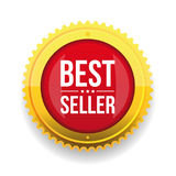 Best seller gold button Royalty Free Stock Photo