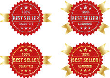 Best seller gold sign and silver sign , label template Stock Photo
