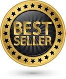 Best seller golden label, vector illustration. Best seller golden label, vector Stock Images