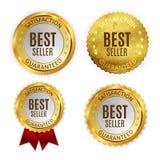 Best Seller Golden Shiny Label Sign Collection Set. Vector Illustration. EPS10 vector illustration