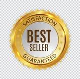 Best Seller Golden Shiny Label Sign. Vector Illustration. EPS10 stock illustration