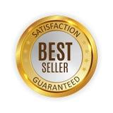 Best Seller Golden Shiny Label Sign. Vector Illustration. EPS10 vector illustration