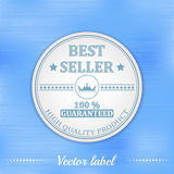 Best seller guaranteed label or badge Stock Image