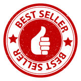 Best seller. An illustration of a label with a thumbs up symbol and the text Best seller Royalty Free Stock Image