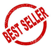 Best Seller Ink Stanp. An best seller red ink stamp on a white background Royalty Free Stock Photos