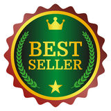 Best seller label. On white background, vector illustration Royalty Free Stock Images