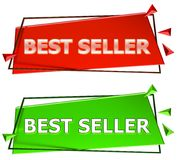 Best seller sign. Best seller modern 3d sign isolated on white background,color red and green Stock Images