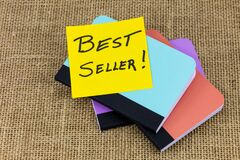Free Best Seller Product Promotion Quality Award Book Label Stock Photography - 215601662