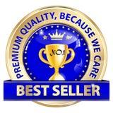 Best-seller, qualità premio, perché ci preoccupiamo Fotografia Stock
