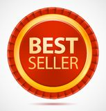 Best seller, red label, vector Stock Photography