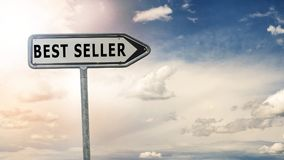 Best seller road sign and dramatic sky Stock Photos
