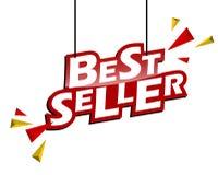 Best-seller rosso e giallo dell'etichetta illustrazione vettoriale