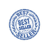 Best seller rubber stamp. Blue grunge rubber stamp with the text best seller written inside the stamp Stock Photos