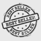 Best seller rubber stamp isolated on white. stock illustration