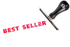 Best seller rubber stamp. Best seller stamp text with stamper Stock Photography