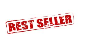Best seller. Rubber stamps with text best seller inside,  illustration Royalty Free Stock Image