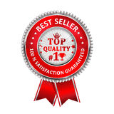 Best Seller. 100 % Satisfaction Guaranteed. Award for excellence. Top Quality - ribbon Royalty Free Illustration