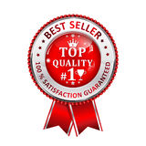 Best Seller. 100 % Satisfaction Guaranteed. Award for excellence. Best Seller. 100 % Satisfaction Guaranteed. Top Quality - ribbon Royalty Free Illustration
