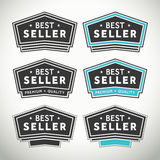 Best seller seals and badges. Quality best seller selas and badges for websites and print labels stock illustration