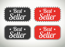 Best seller seals and stamps. Quality best seller selas and stamps for websites and print labels royalty free illustration