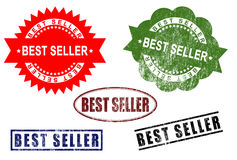 Best Seller sign rubber stamp set Stock Images