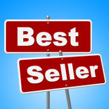 Best Seller Signs Means Vending Rated And Sold Royalty Free Stock Photos