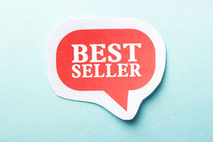 Best Seller. Speech bubble is isolated on the blue background royalty free stock photos