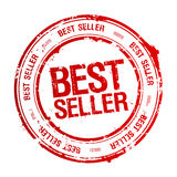 Best seller stamp. Best seller red rubber stamp Royalty Free Stock Photos