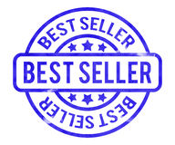 Best Seller Stamp. Blue Best Seller Stamp Background Royalty Free Stock Images