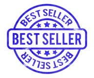 Best Seller Stamp. Blue Best Seller Stamp Background Royalty Free Stock Images